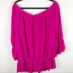 Ralph Lauren off the shoulder peplum blouse